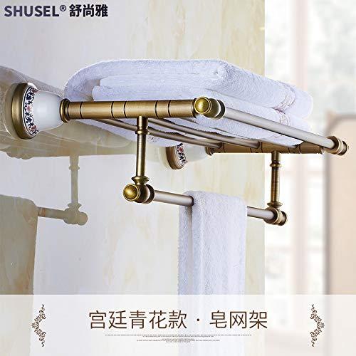 Hlluya handdoekhouder van het grootste deel van het geheel koper antiek handdoekhouder antiek badkamer handdoekhouder Mount Kit gemonteerd