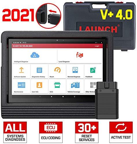 LAUNCH X431 V + (Pro3) Auto Diagnosegerät volle System Diagnosen OBD2 Scanner Codeleser WiFi Bluetooth Android Tablet mit 2 Jahre Online-Update Bluetooth-Anschlussmodul und komplettes Zubehörset