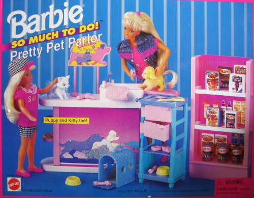 Barbie So Much To Do! Pretty Pet Parlor Playset (1995 Arcotoys, Mattel)