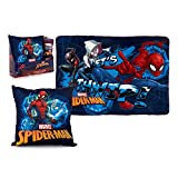 Spiderman Juego COJIN Polar, Multicolor, 150 x 70 Manta