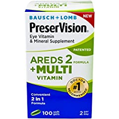 PRESERVISION AREDS 2 + DAILY MULTIVITAMIN: This convenient 2-in-1 formula helps you take fewer pills each day, by combining PreserVision AREDS 2 eye vitamin formula with other essential vitamins and minerals found in multivitamins. AREDS 2 SUPPLEMENT...