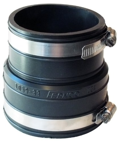 Fernco P1059-33 3-Inch by 3-Inch (Inner Diameter) Rubber Flexible Coupling Repair Fitting