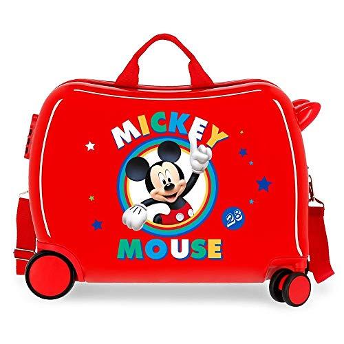 Trolley Topolino Circle Disney da Viaggio 4 Ruote TRAINABILE CM. 50X38X20 in ABS - 2039822