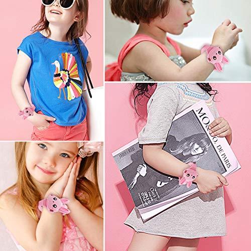 Montre Enfant Filles Numérique - Mignonne en Forme de Lapin Rose Montre Fille - LED Dessin Animé...
