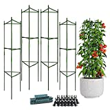 NuaiYrod Tomato Cage 48 Inches 4-Pack...