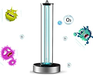 UV Sterilization Lamp Integrated Ultraviolet Germicidal Lamp with Ozone Quartz Tube Disinfection Portable UV-C LED Sanitizer for Car Household Refrigerator Toilet Pet Area with Lamp Base (38W)