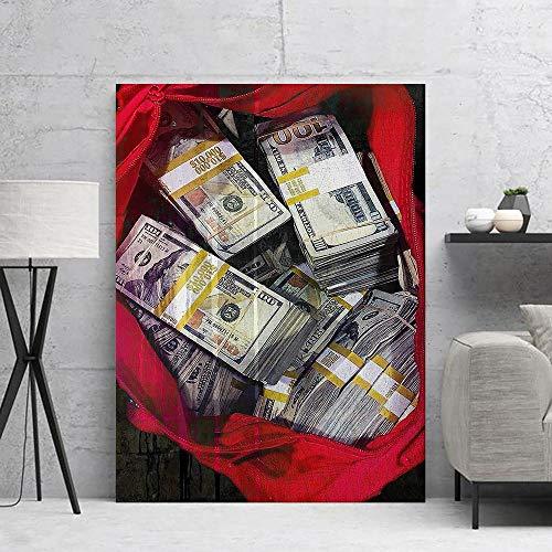 Ayjxtz Puzzle 1000 Piezas Dólar Arte Moneda Dinero en Efectivo en Juguetes y Juegos Gran Ocio vacacional, Juegos interactivos familiares50x75cm(20x30inch)