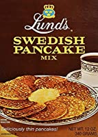 Lunds Pancake Mix Swedish 12 Ounce (2) [並行輸入品]