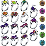 Hicarer 15 Pieces Adjustable Mood Rings for Girls...