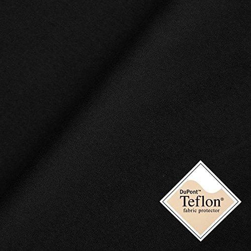 www.aktivstoffe.de (9,99€/m) Peach - Tessuto Microfibra con impermeabilizzazione Teflon Idrorepellente - Stoffa al Metro (Nero)