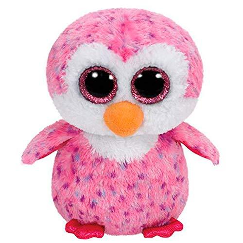 TY–Beanie Boos Glider, Pinguin, 40cm, rosa (United Labels iberischen 37060ty)