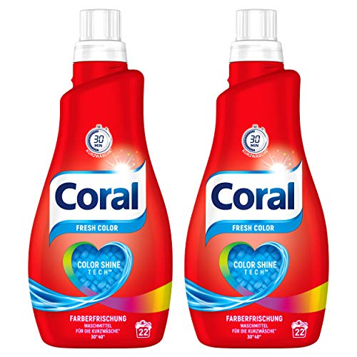 Coral Feinwaschmittel Fresh Color flüssig 44 WL, 2er Pack (2 x 22 WL)