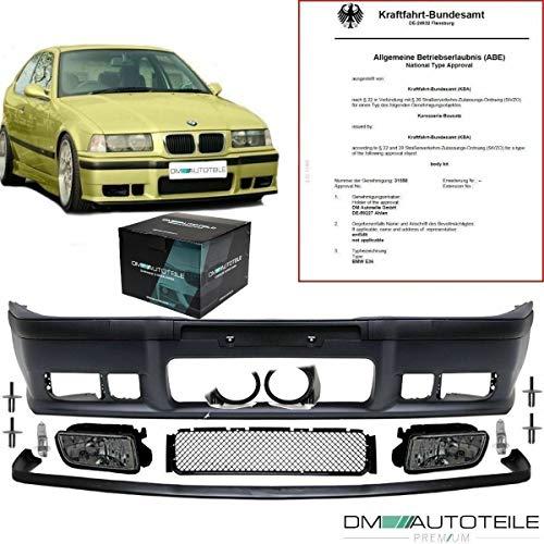 DM Autoteile *ABE* Stoßstange SPORT+GT Lippe+ Nebel Black passt für E36 auch M3 M +Nieten