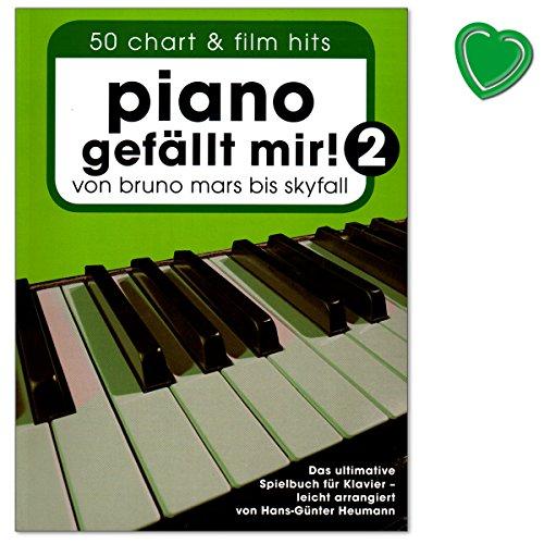 Piano gefällt mir Band 2 (Klebebindung) - von Bruno Mars bis Skyfall - ultimative Spielbuch für Klavier mit bunter herzförmiger Notenklamme - arrangiert von Hans-Günter Heumann
