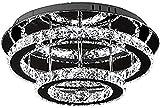 Luz de techo de cristal LED 36 W Diamond Lustre Style Dimmable Colgante Luminaria Lighting Crystal Chandelier