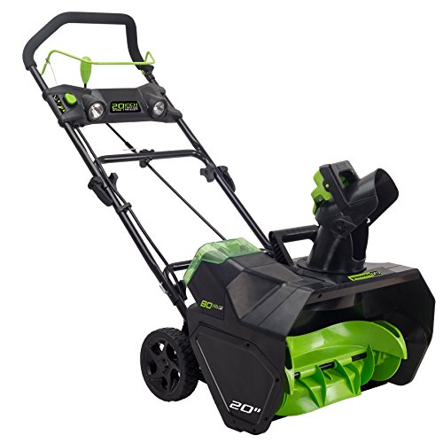 GreenWorks Pro 80V 20-Inch Cordless Snow Thrower, Battery...