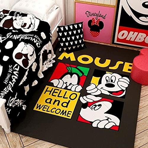 Alfombra De Área De Alfombra, Alfombrillas Impresas con Dibujos Animados Bonitos De Mickey Minnie Mouse, Alfombrilla Suave Antideslizante, Alfombras (A2865) 80X150Cm