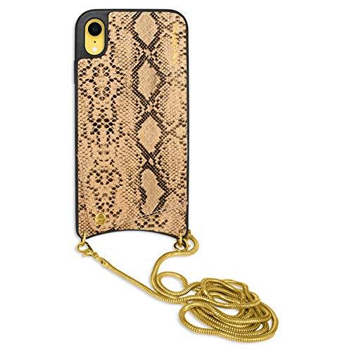 mtb more energy® Collar Snake para Apple iPhone XR (6.1'') - Oro...