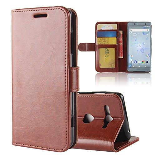 GARITANE Hülle für Sony Xperia XZ2 Compact/H8324 H8314,Handyhülle Hülle mit Magnet Ständer Kartenfächer Schutzhülle Retro Lederhülle für Sony Xperia XZ2 Compact/H8324 H8314 (Braun)