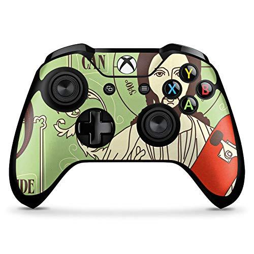 DeinDesign Skin kompatibel mit Microsoft Xbox One X Controller Aufkleber Folie Sticker Jesus Skateboard Lustig
