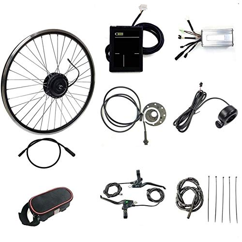 CRMY Kit De Bicicleta Eléctrica 48V 500W 20'/24'/26'/27.5'/ 28'/ 29'/700C Kit De Conversión De Motor De Bicicleta Eléctrica De Rueda Trasera Buje De Bicicleta Eléctrica con Pantalla LCD8S