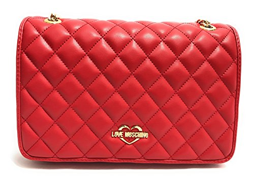 Sac Bandouliere Femme LOVE MOSCHINO JC4008PP15LB0500 Quilted Nappa Pu Rouge