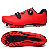CHANGAN Mens Pro Road Bike Shoes use with Cleats MTB, Spin Cycle, Indoor Riding Road Cycling Red-36