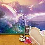 Unicorn Fairtale Fantasy Wallpaper Mural Photo Children Room Poster DIY Decoration 325x215cm