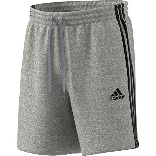 adidas GK9599 M 3S FT SHO Pantaloncini Uomo Medium Grey Heather/Black S