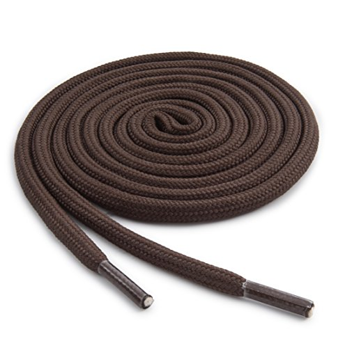 OrthoStep Round Athletic 40 inch Brown Shoe laces - Durable and Sturdy Shoe laces 2 Pair Pack