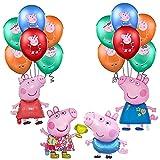 Decoraciones de Fiesta Cumpleaños Peppa Pig Globos George Pig Globos de Aluminio Peppa Pig Globos de Papel de Fiesta para Niños Suministros de Fiesta Cumpleaños Temáticos George Peppa Pig
