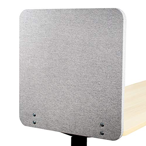 VIVO Gray Clamp-on 24 x 24 inch Privacy Panel, Sound Absorbing Cubicle Desk Divider, Acoustic Partition (PP-1-V024G)