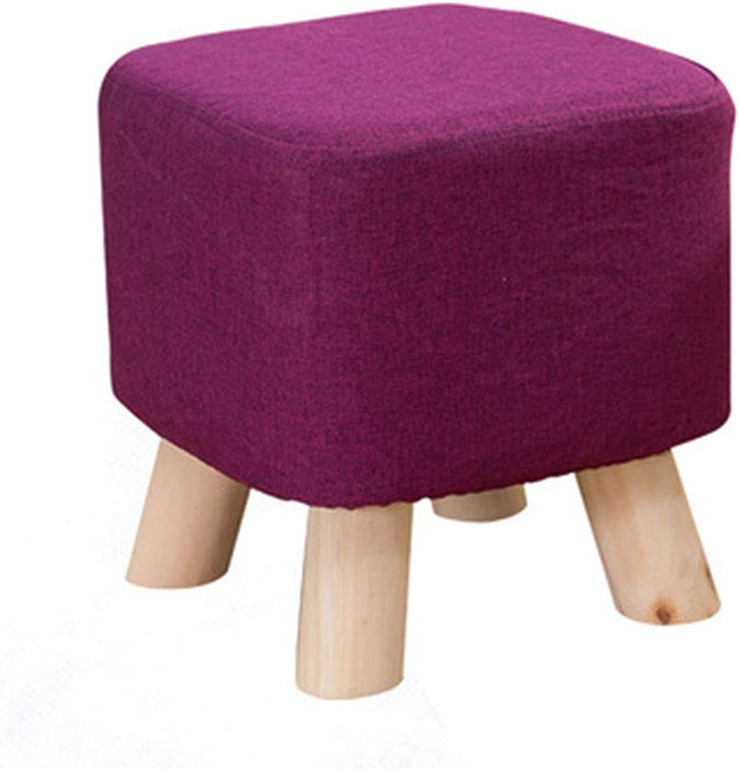 YONGYONG Simple Modern Block Creative Porch Stool Solid Wood Stool Coffee Table Living Room Seat Bench Fabric shoes Bench Sofa Square Stool (color   3)