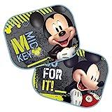 Theonoi 2 cortinas de protección solar para las ventanillas laterales a elegir: Mickey – Cars – Starwars Winnie/protección UV, regalo para niños – Mickey Mouse