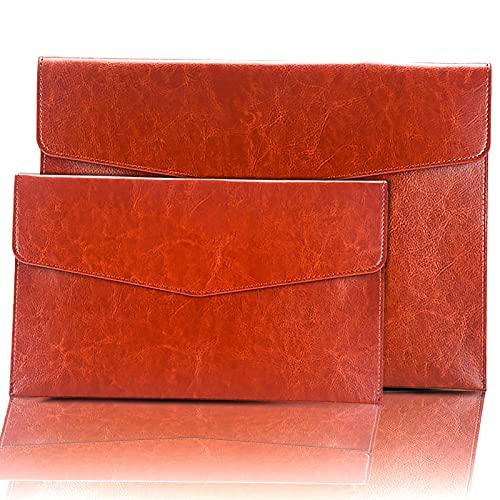 Lot de pochettes en cuir synthétique A4 pour documents A5, porte-feuilles, pochettes pour notes, pochettes en cuir d'affaires, dossiers de bureau, organiseur de papeterie, trousse à crayons