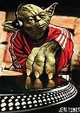 FABTEE Poster - Yoda Jedi DJ / 250g Papier hochwertiger