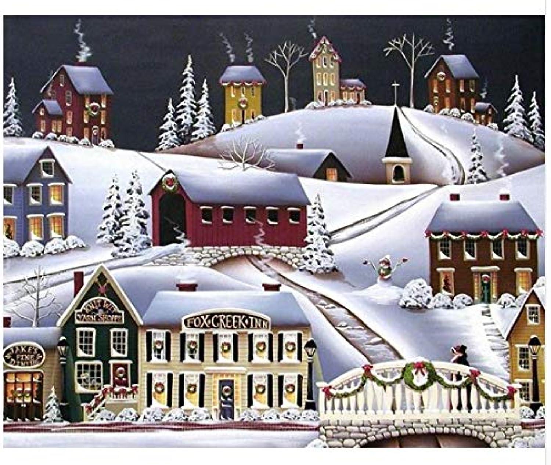 Agolong DIY Malen Nach Zahlen Schnee Schnee Schnee Landschaft Acrylgemälde Moderne Bild Home Decor Für Wohnzimmer Mit Rahmen 40x50cm B07LH5Q3MG | Louis, ausführlich  995727