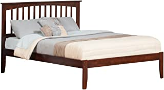 Atlantic Furniture Mission Platform Bed with Open Foot Board, Queen, Walnut