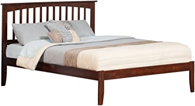 Atlantic Furniture AR8741004 Mission Bed with Open Foot Rail Queen Antique Walnut