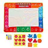 MYAMIA 120x90Cm DIY Niños Aqua Magic Water Drawing Painting Pad Kit Doodle Mat Set-A