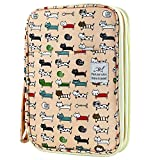 YOUSHARES 192 Slots Colored Pencil Case, Large Capacity Pencil Holder Pen Organizer Bag with Zipper for Prismacolor Watercolor Coloring Pencils, Gel Pens for Artist (Persian Cat)