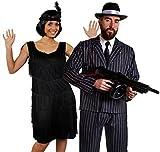 Déguisement accessoires pour couple de gangster adulte une robe noire Charleston M. un...