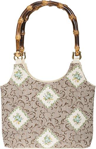 Küstenluder Damen Tasche Gilma Rosen Bouquet Handtasche Creme