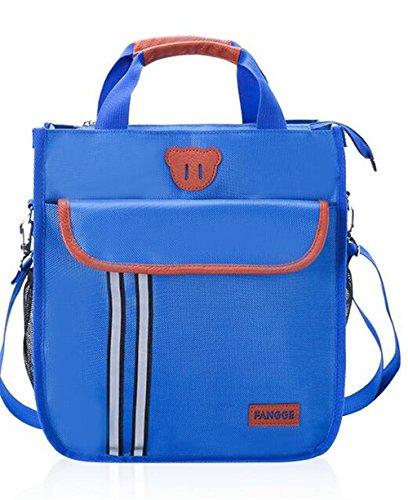 Preisvergleich Produktbild Weekendy Personalisierte Einkaufstasche Student Schultasche Handtasche Canvas Wasserdichte Schulter Slung Dual-Use-Tasche Blau Zwei Große Taschen