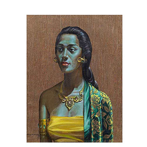 nr Balinese Girl Portrait Pósters e Impresiones en Lienzo Imagen de Pared escandinava para Sala de Estar 50x70cm sin Marco