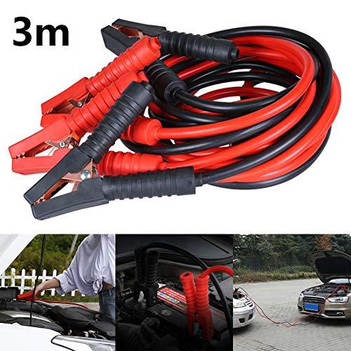 MorNon Starterkabel Starterkabel 2000Amp LKW Auto 3m Überbrückungskabel 25mm² Kabel für Auto LKW Batterie Überbrückungskabel