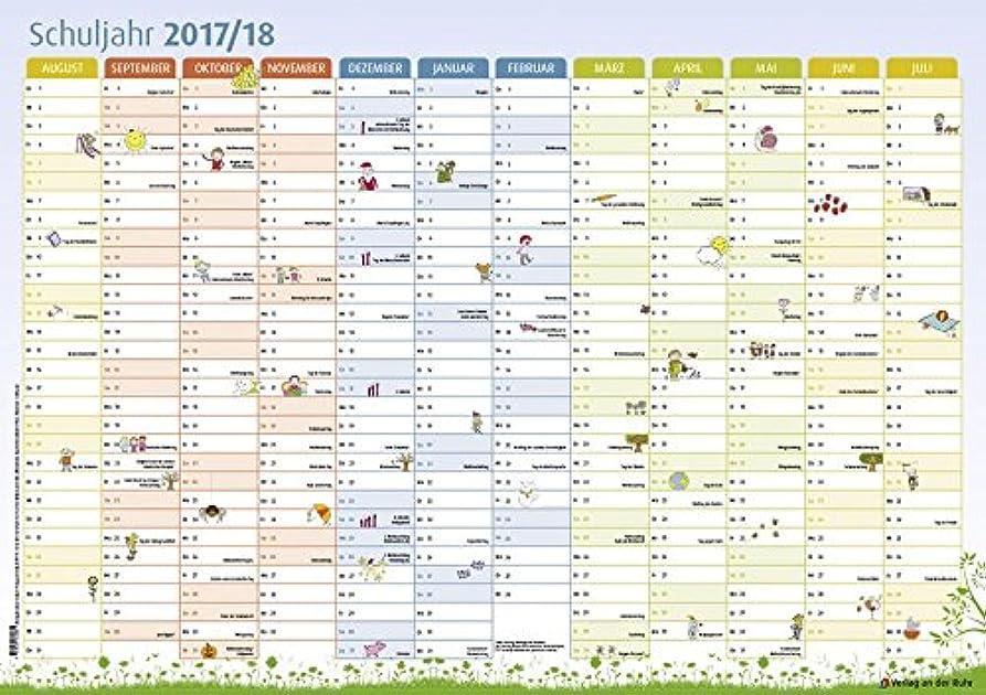 無数の一過性統計的Der Schuljahres-Wandkalender 2017/2018