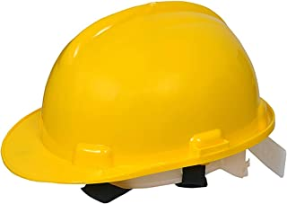 FASTECK Hard Hat Work Cap ABS Plastic Material Construction Protect Breathable Engineering Power Safety Labour Helmet (Yellow)