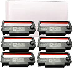 Gorilla Supply Ink Ribbon ERC 30 34 38 B/R Compatible for ERC38 NK506 (6-PK, Black Red)
