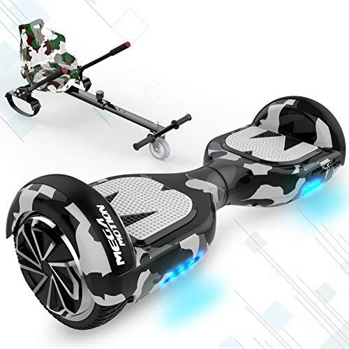 GEARSTONE HoverBoard+Hoverkart monopatín con Bluetooth e iluminación LED 6,5 pulgadas Scooter eléctrico...